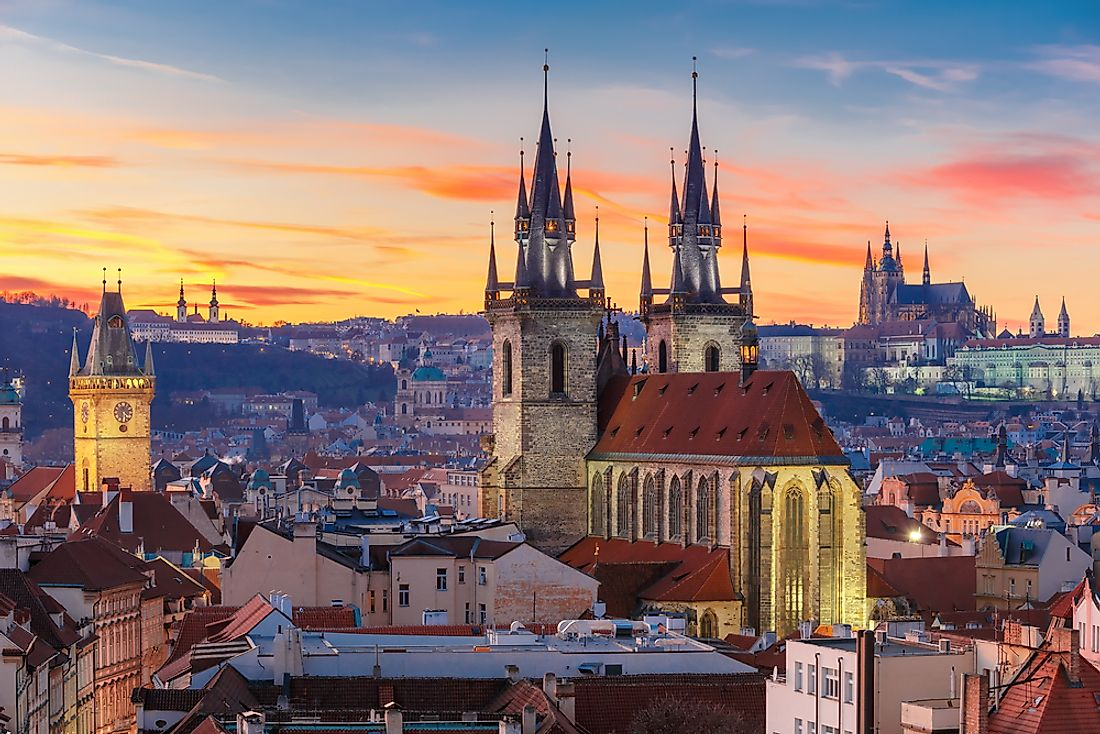 Prague, the capital of Czechia.
