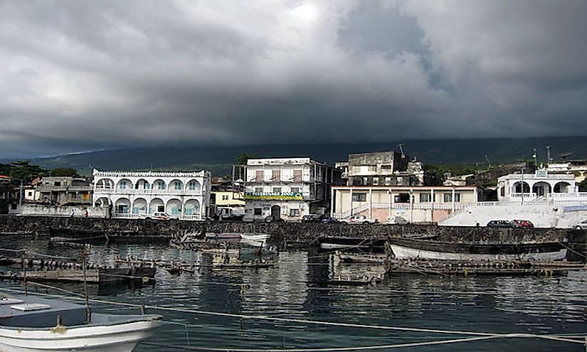 A view of the city of Moroni, the capital and biggest city of Comoros.