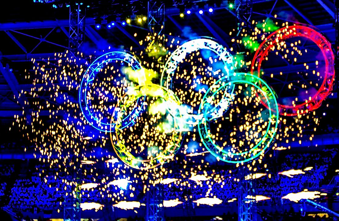 The 16 days of the Olympic Games commences with the opening ceremony. Editorial credit: Paolo Bona / Shutterstock.com