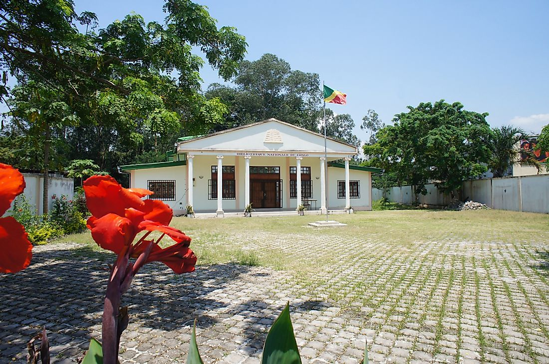 The National Library of the Republic of the Congo in Brazzaville.