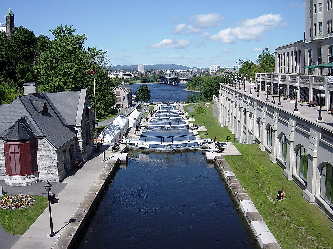 The Rideau Canal in Ottawa.