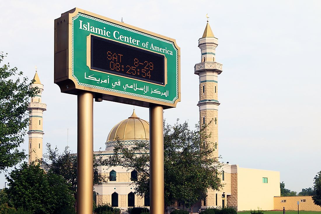Islamic Center of America is the largest mosque in North America. Editorial credit: James R. Martin / Shutterstock.com