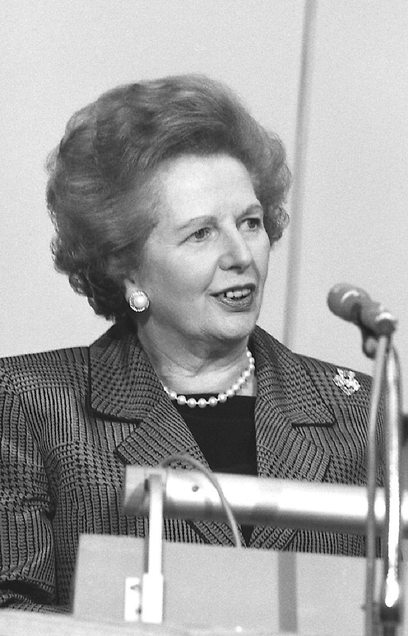 Many of Margaret Thatcher's Conservative policies were likened to those of her contemporary across the pond, U.S. President Ronald Reagan.