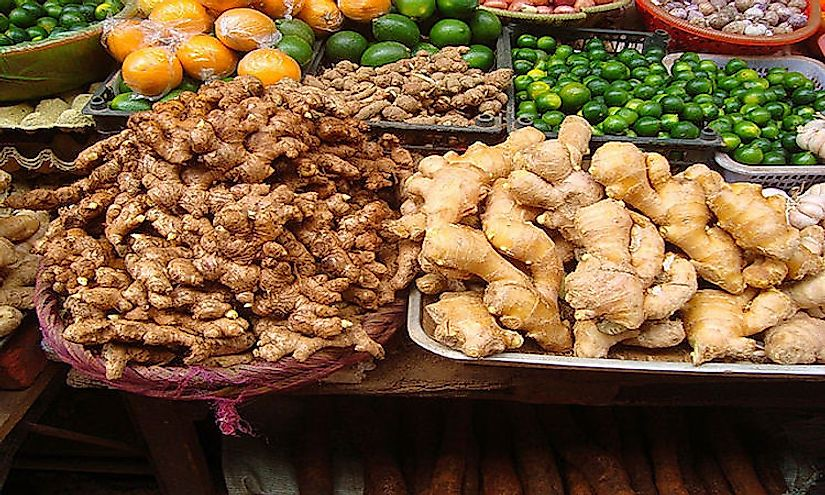 Ginger being sold in the market.