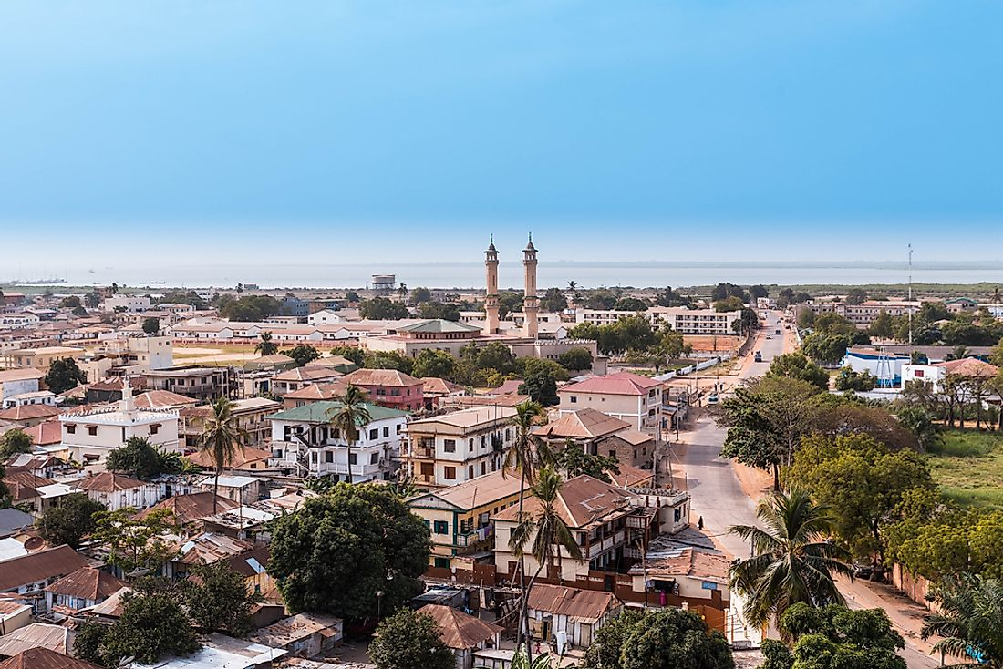 The City of Banjul serves as the commercial, educational, and transportation hub of The Gambia.