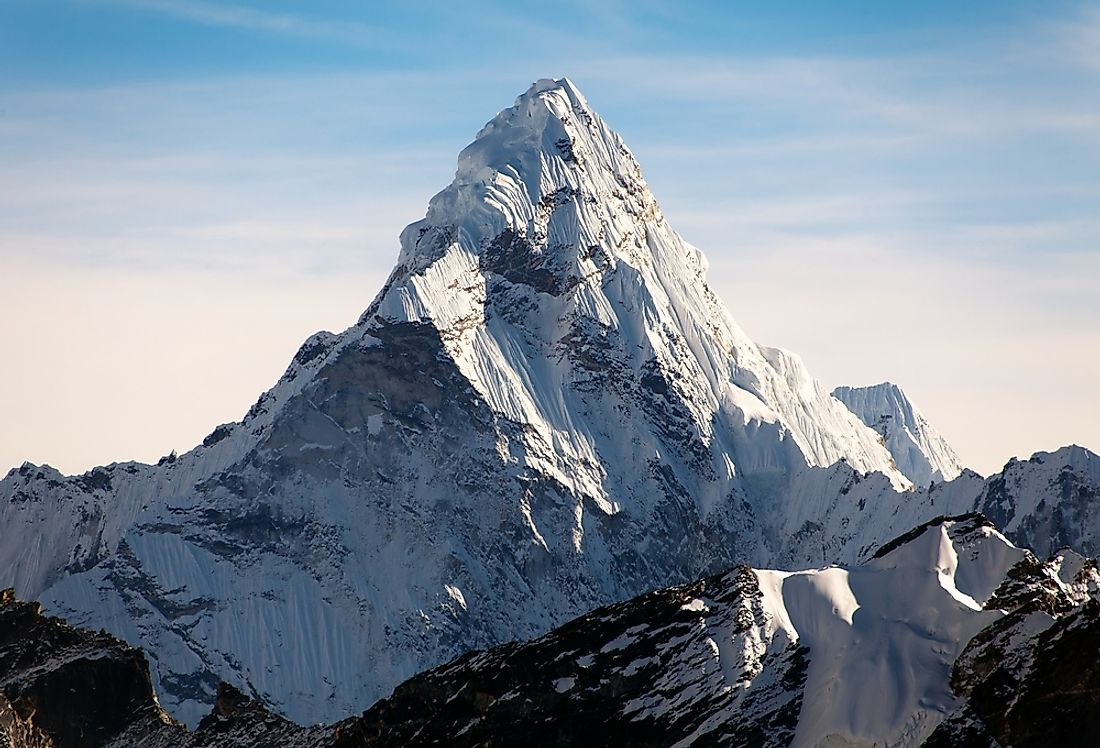 Mount Everest is the tallest mountain in the world.