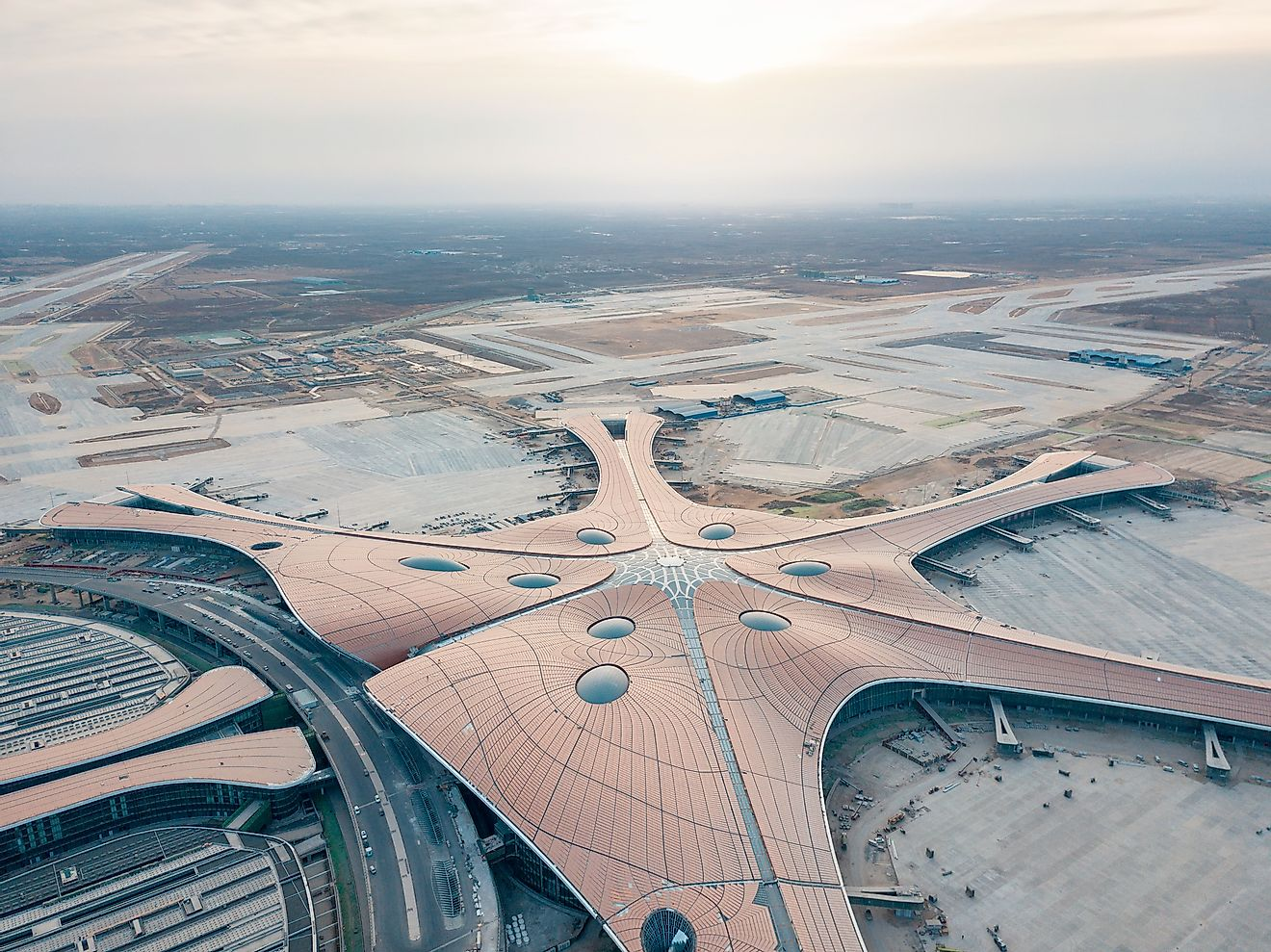 China's Beijing Daxing International Airport is the newest airport to make it to the list of the world's 10 biggest airports. Editorial credit: lazy dragon / Shutterstock.com
