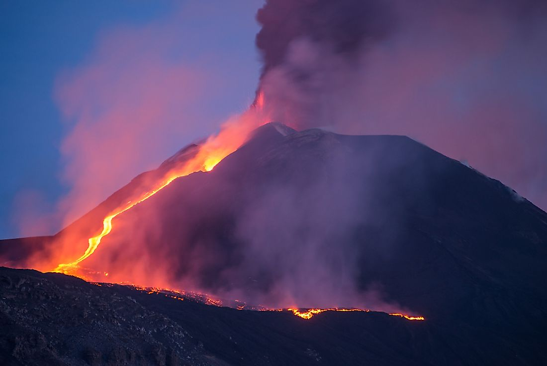 A volcanic eruption is a type of geological disaster.