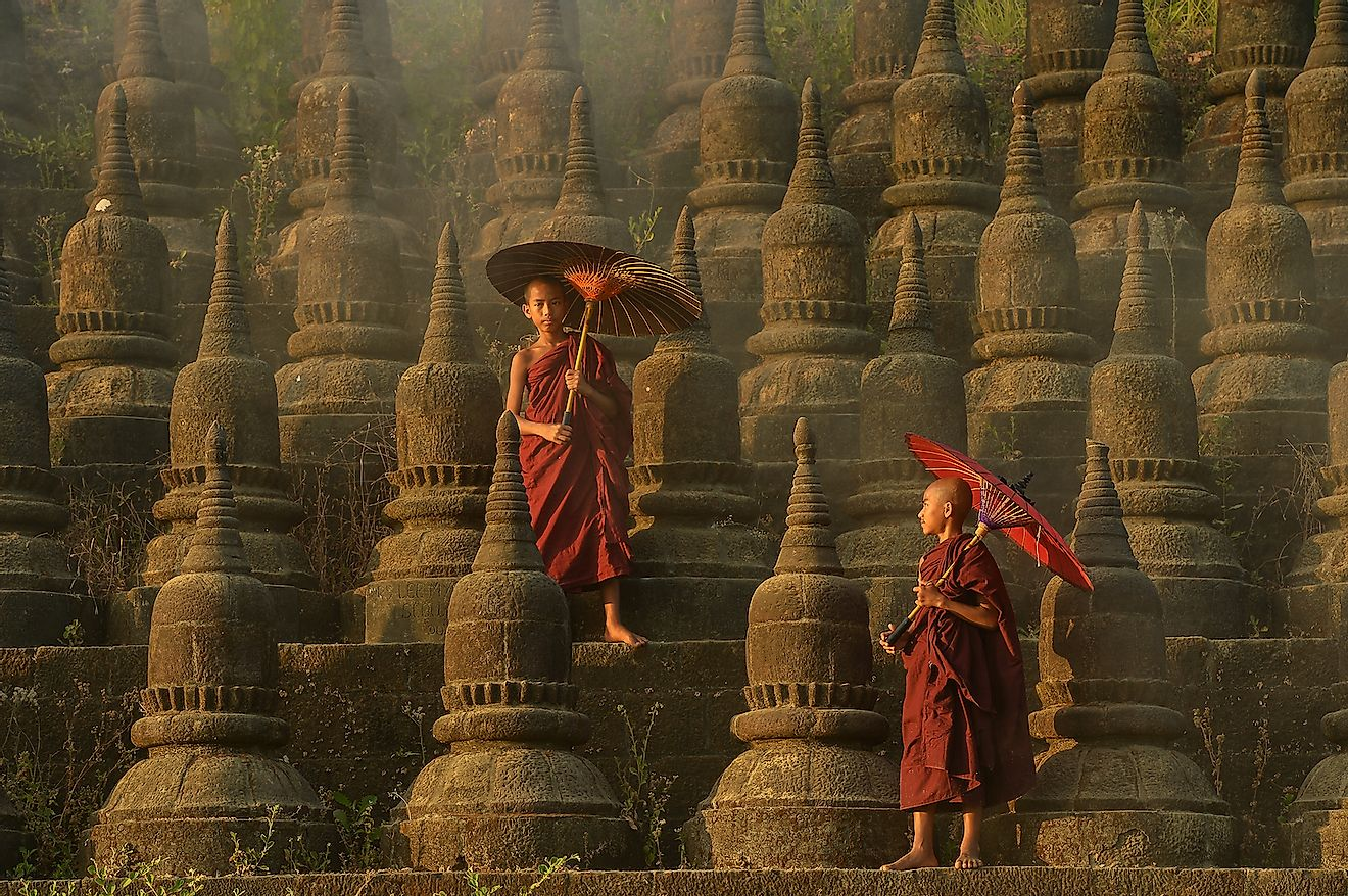 The plain of Bagan(Pagan), Mandalay, Myanmar. Image credit: lkunl/Shutterstock.com