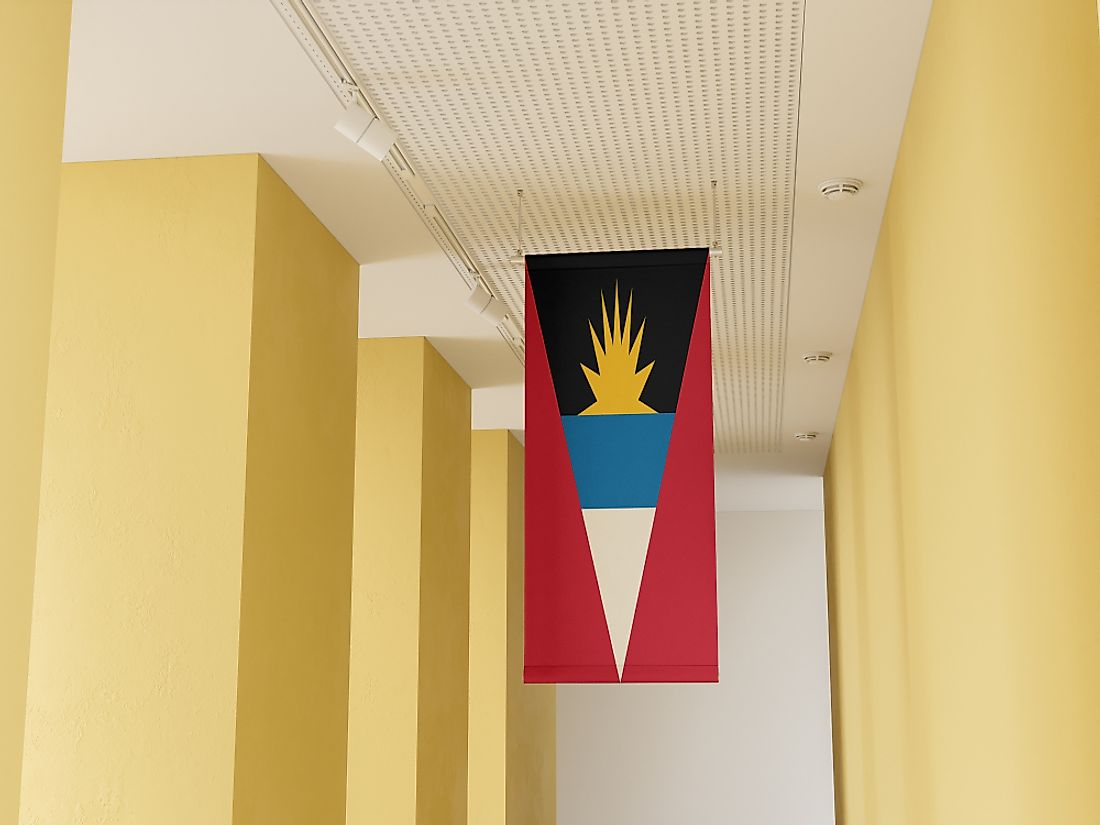 Flag of Antigua and Barbuda.
