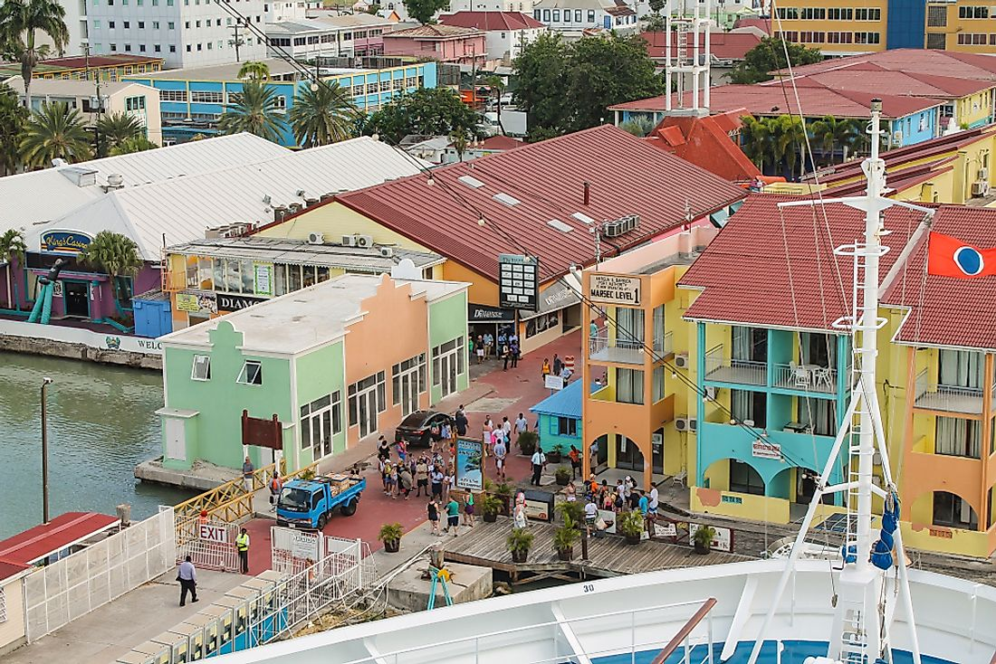 St. John's, the capital of Antigua and Barbuda. Editorial credit: Jan Schneckenhaus / Shutterstock.com.