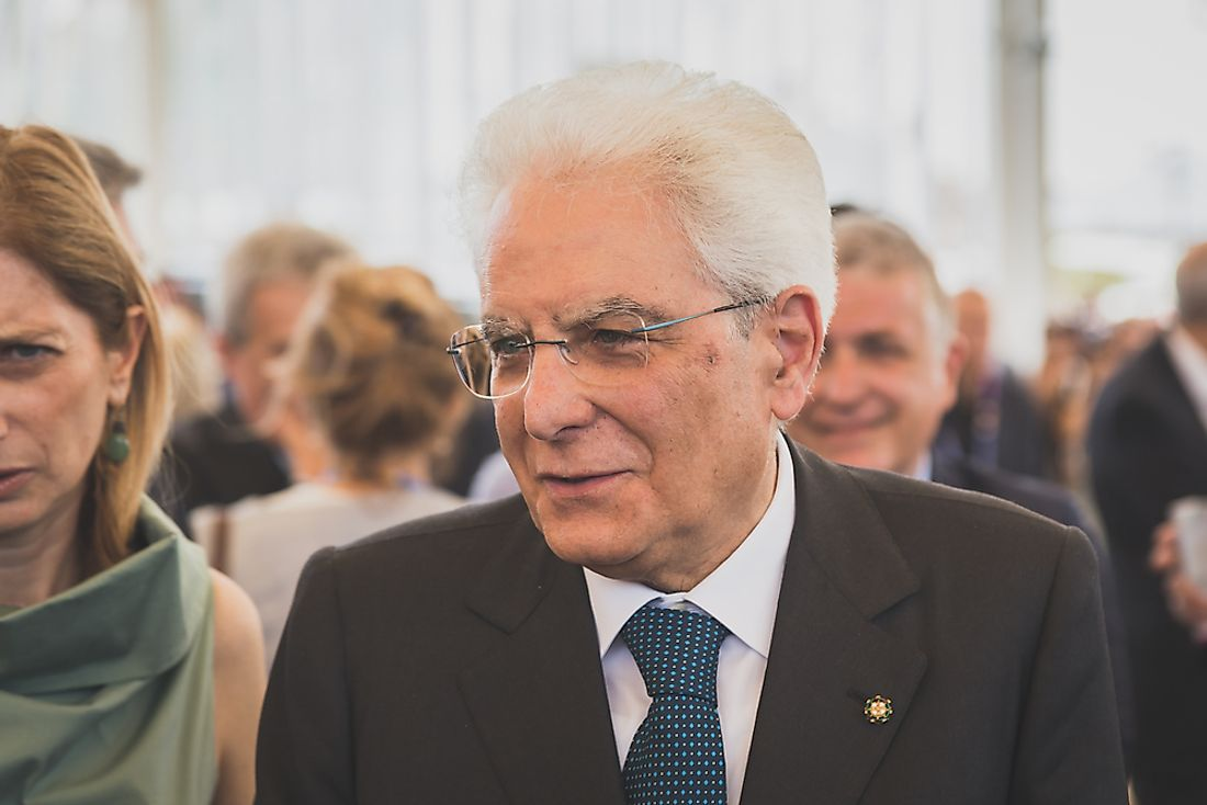 Sergio Mattarella has been the President of the Republic of Italy since 2015. Editorial credit: Tinxi / Shutterstock.com.