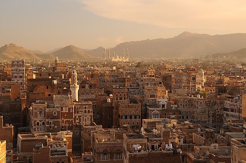 Sana'a, Yemen's capital and largest city.