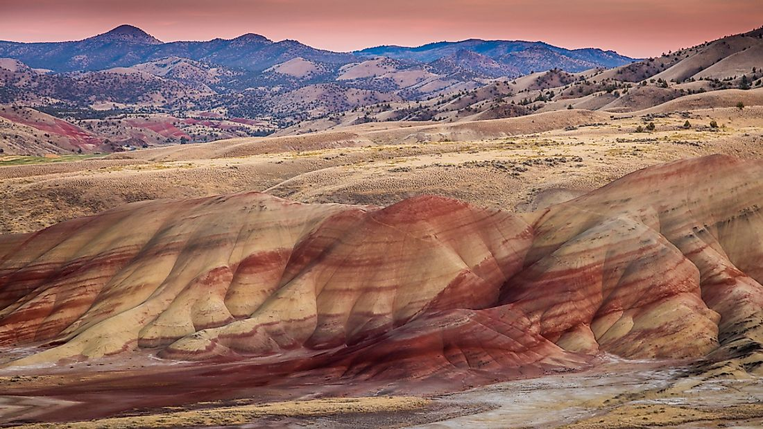 The John Day Fossil Beds National Monument hosts 5,691 hectares of natural magnificence.