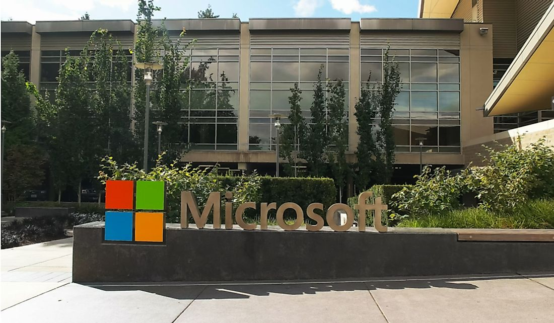 Microsoft headquarters in Redmond, Washington. Editorial credit: crbellette / Shutterstock.com