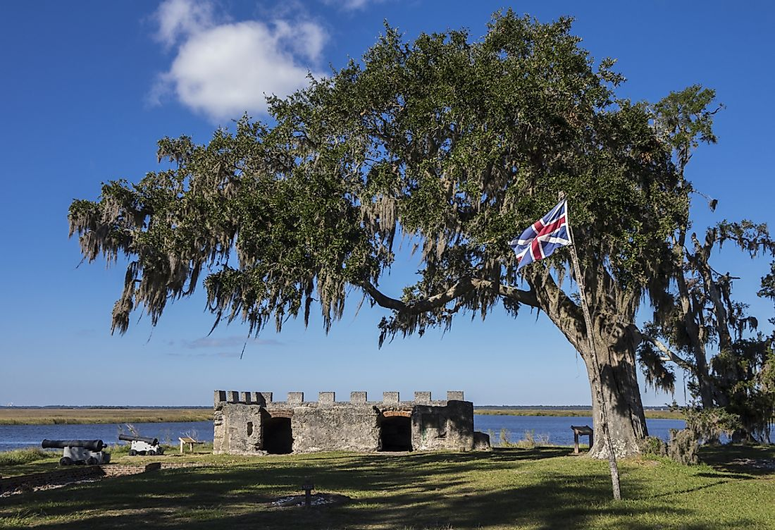 Fort Frederica was designated a National Monument in 1936.  Editorial credit: JSvideos / Shutterstock.com