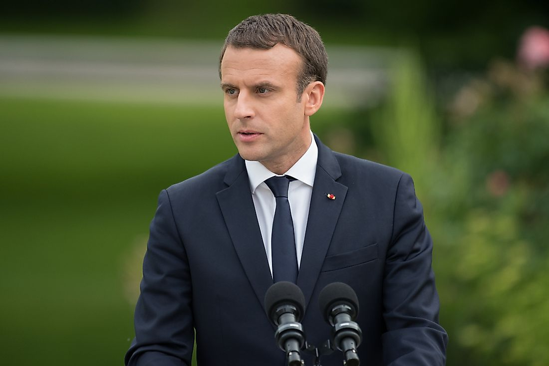 Emmanuel Macron, the incumbent President of France. Editorial credit: Frederic Legrand - COMEO / Shutterstock.com.