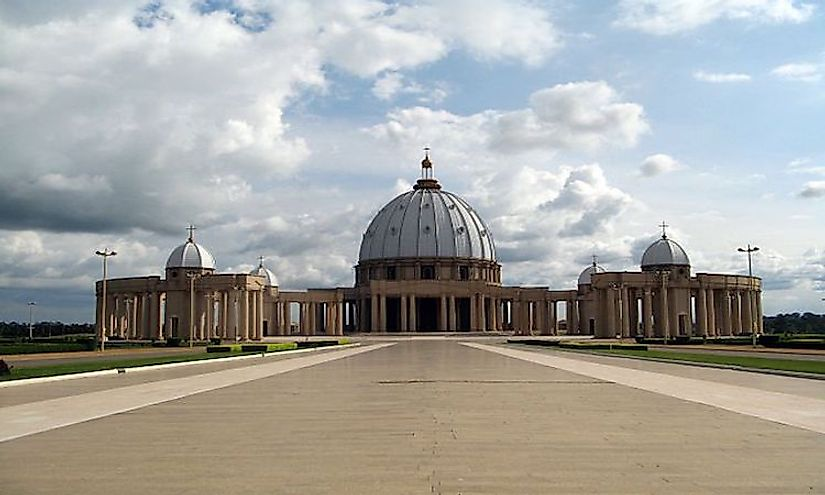 Basilica of our Lady of Peace in Yamoussoukro, Ivory Coast.