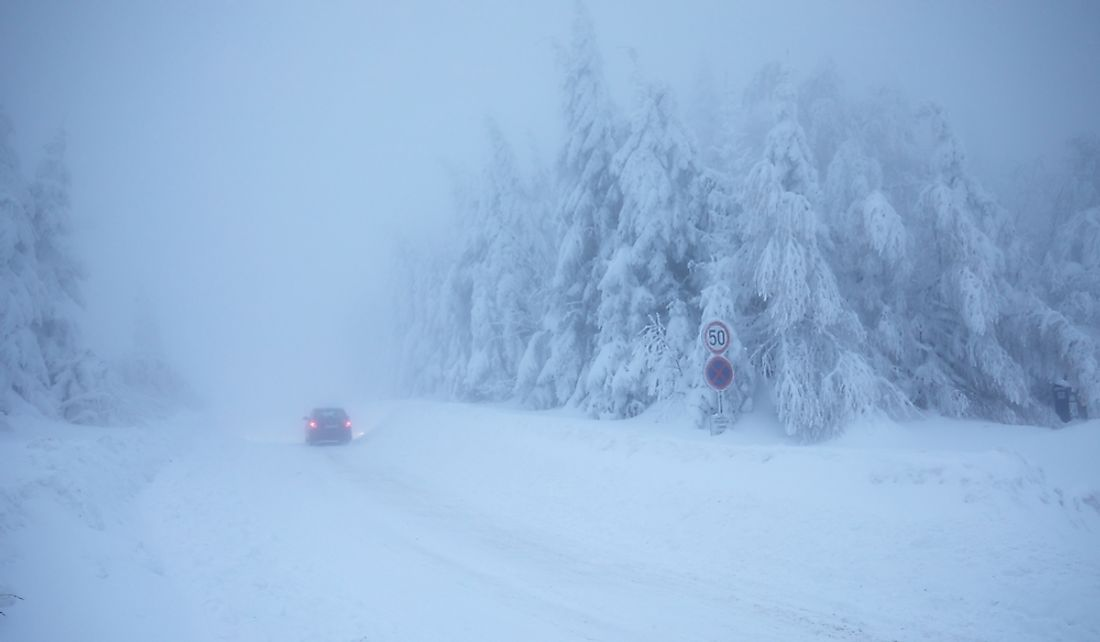 Eastern North America was hit with heavy snow during the storm.