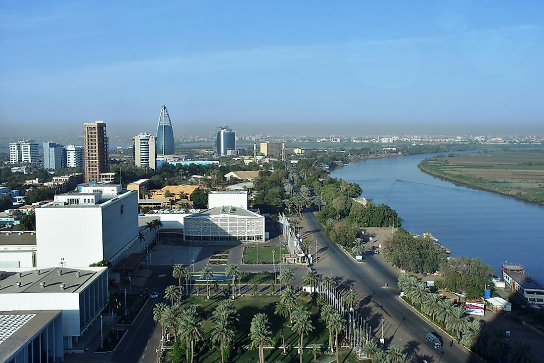 Khartoum, the capital city of Sudan. Editorial credit: Claudiovidri / Shutterstock.com.