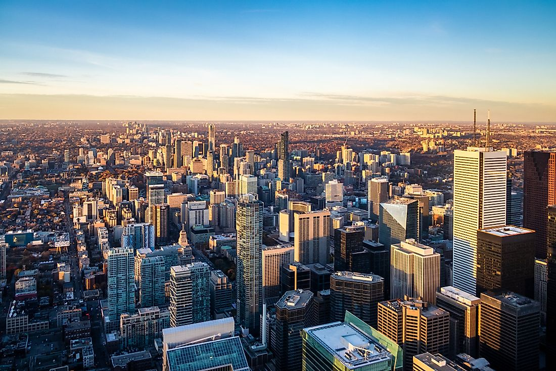 Toronto, the largest city of Canada as well as Ontario, Canada's richest province.