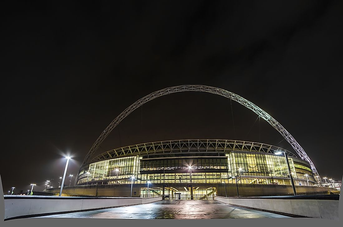 The Wembley Stadium in London, England.