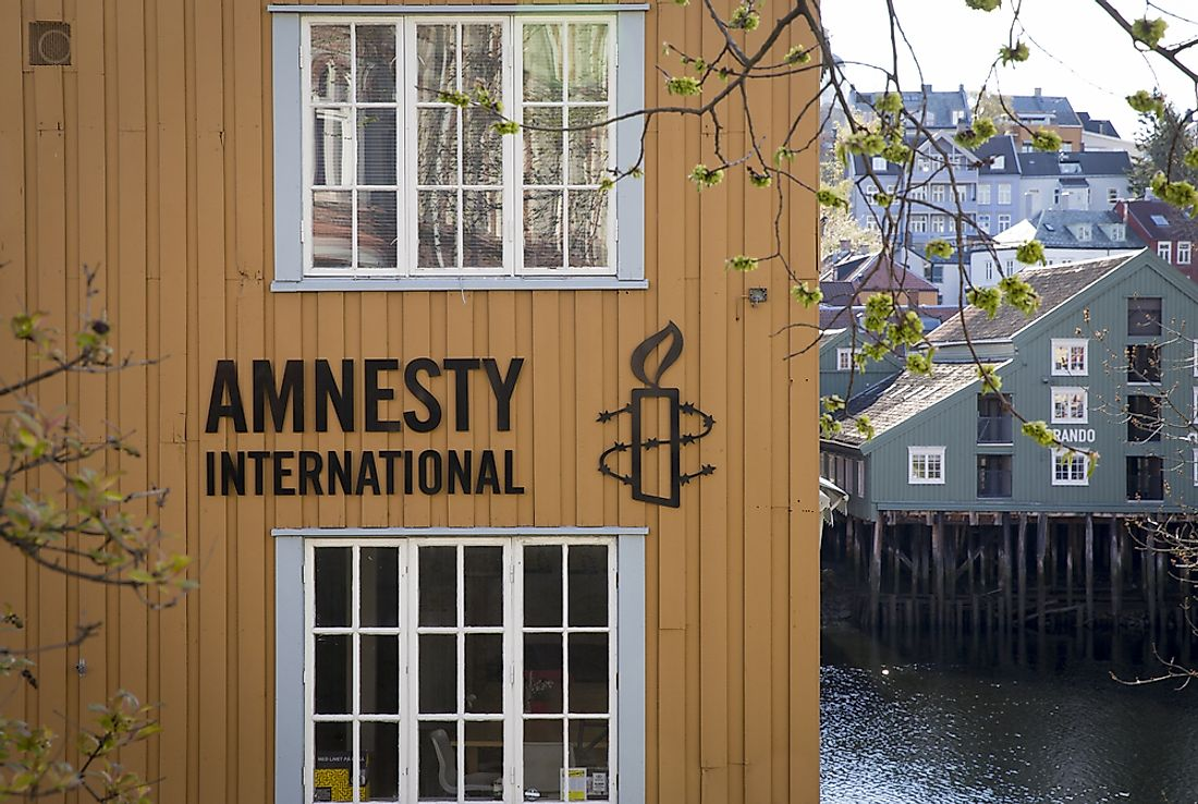 Branch of Amnesty International office in Trondheim, Norway. Editorial credit: mikolajn / Shutterstock.com