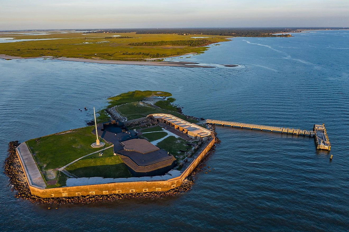 Fort Sumter is most famous as the location of the beginning of the American Civil War.