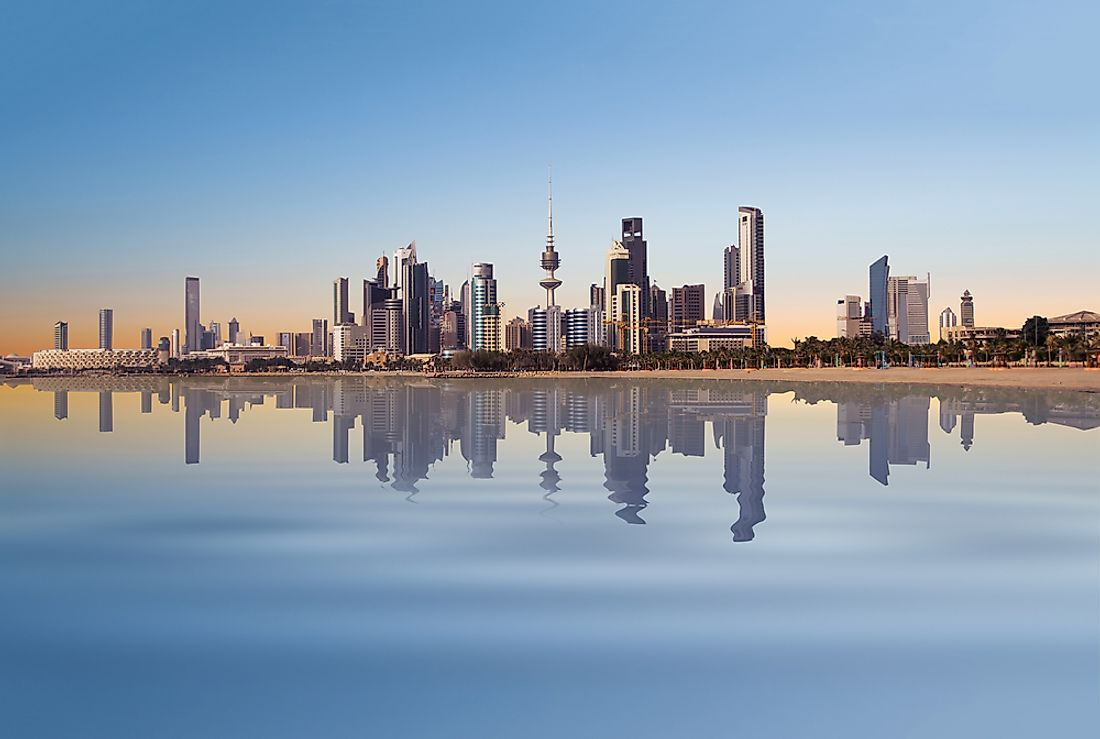 Kuwait City, the capital of Kuwait, is the hottest city in the world with daily average temperatures reaching insufferable levels.