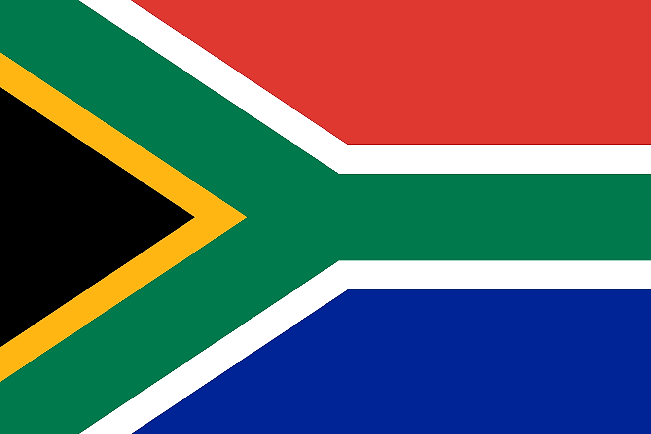 In addition to the new Constitution, South Africa also adopted a new flag after the end of the Apartheid.