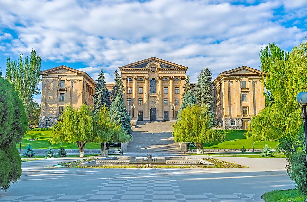 The National Assembly in Yerevan, Armenia.