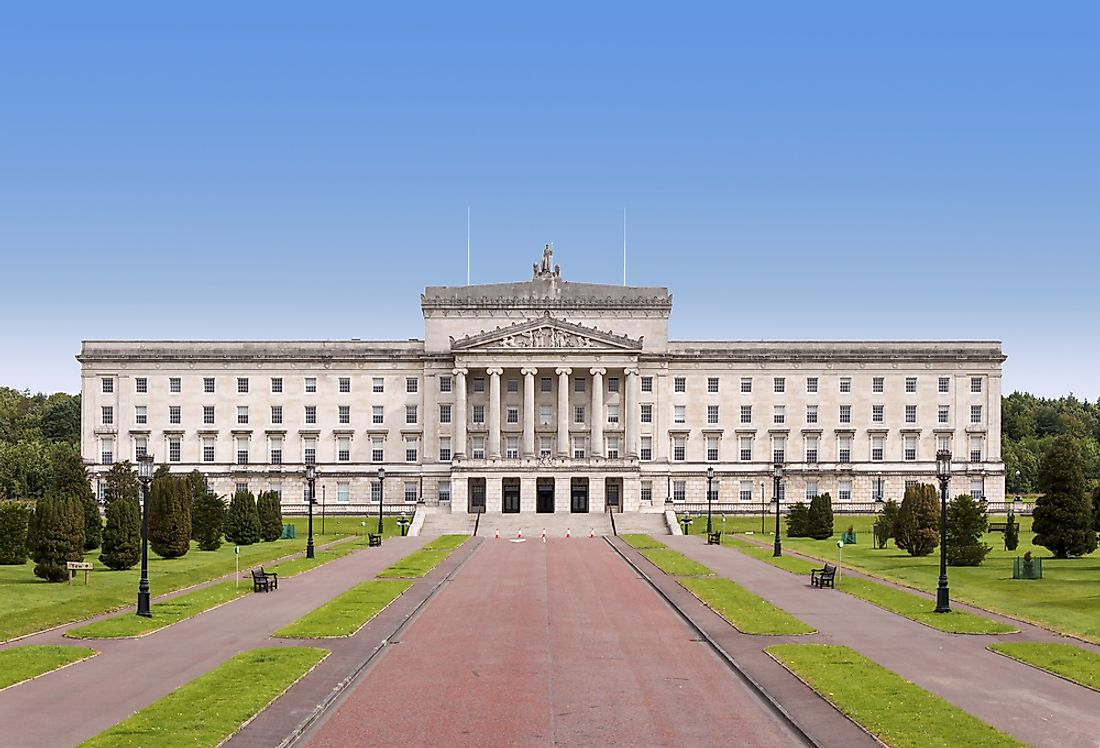 The Northern Ireland parliament building in Belfast.