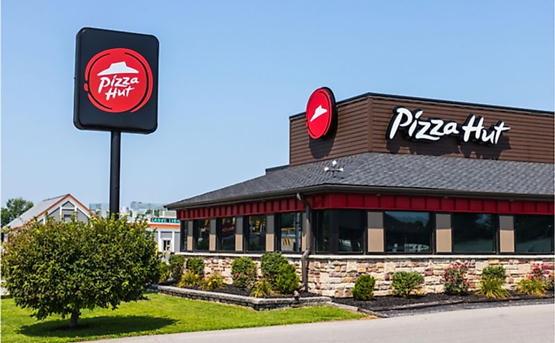 Pizza Hut serves the most locations of any pizza chain in the world.