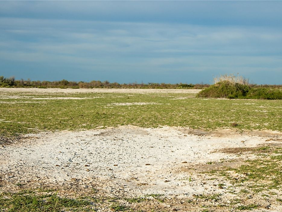 Semi-arid steppe region land.