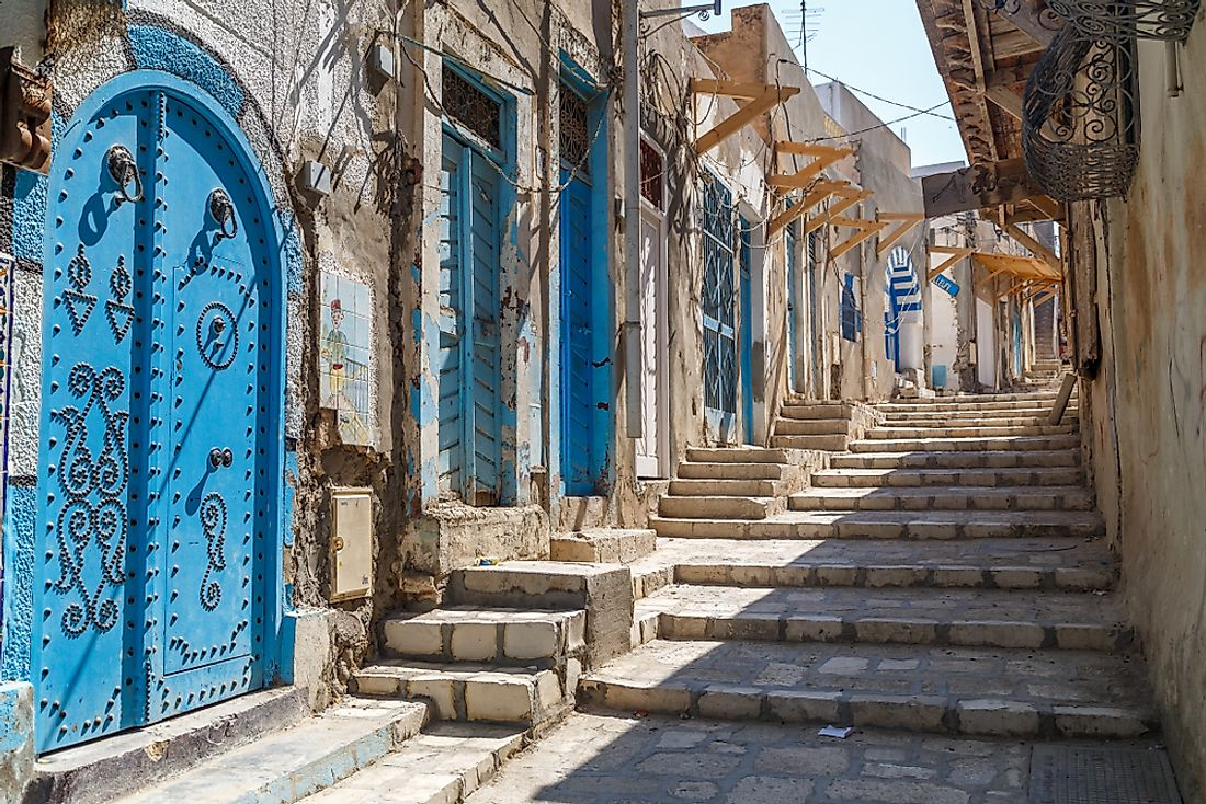 Medieval artistic doors reflect the traditions of Tunisia. Editorial credit: Lev Levin / Shutterstock.com.