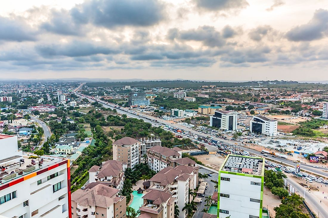 Accra is Ghana's largest city and the nation's capital.