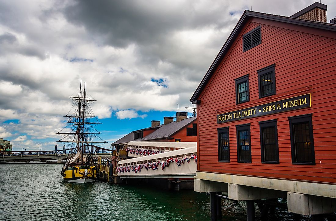 The Boston Tea Party museum in Boston.
