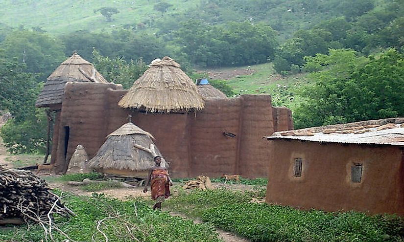 A traditional house with granaries in Koutammakou