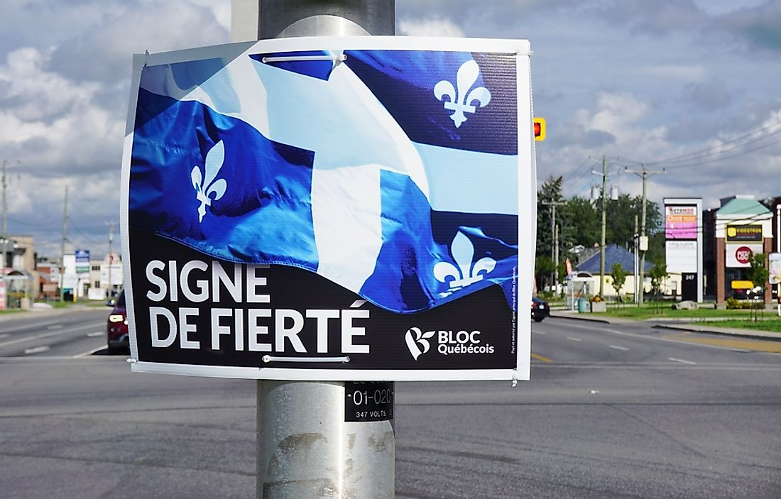 Poster for Bloc Quebecois, a political party in Quebec Canada. Editorial credit: EQRoy / Shutterstock.com