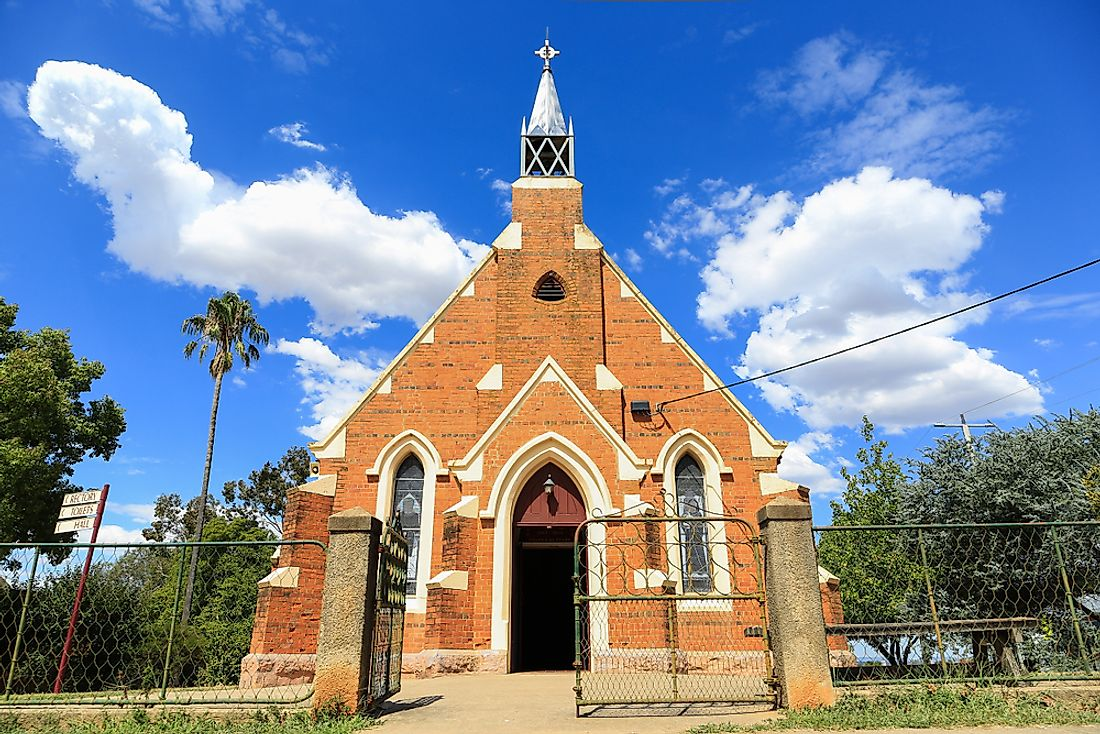 An Anglican church in Rutherglen, Australia.