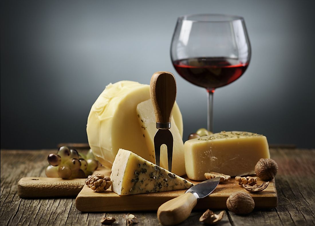 Cheese and wine are the foundation of French cuisine.