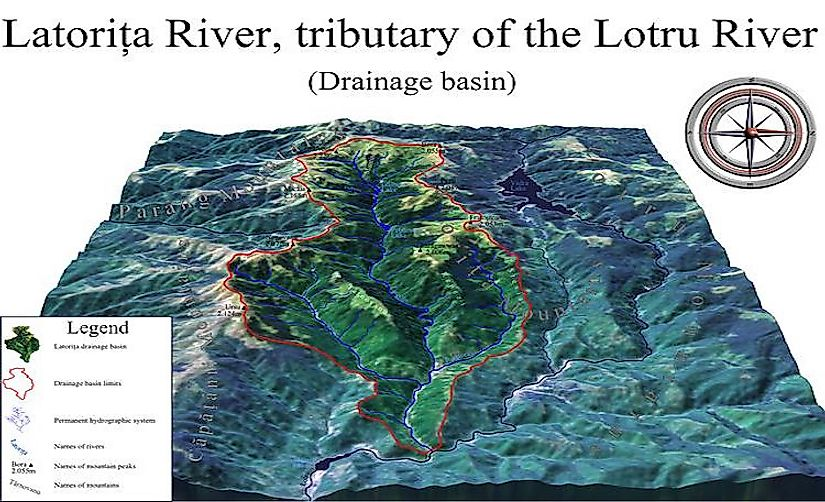 Animation of Latorița River drainage basin, Romania.