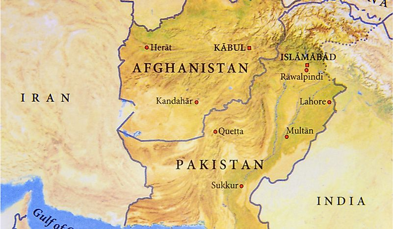 The Durand Line separates Afghanistan and Pakistan.