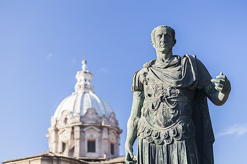 Statue of Julius Caesar in Rome, Italy.