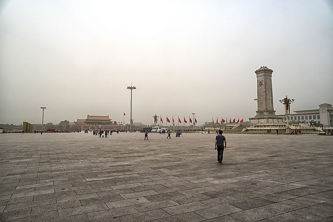Tiananmen Square, China. Editorial credit: Ablakat / Shutterstock.com.