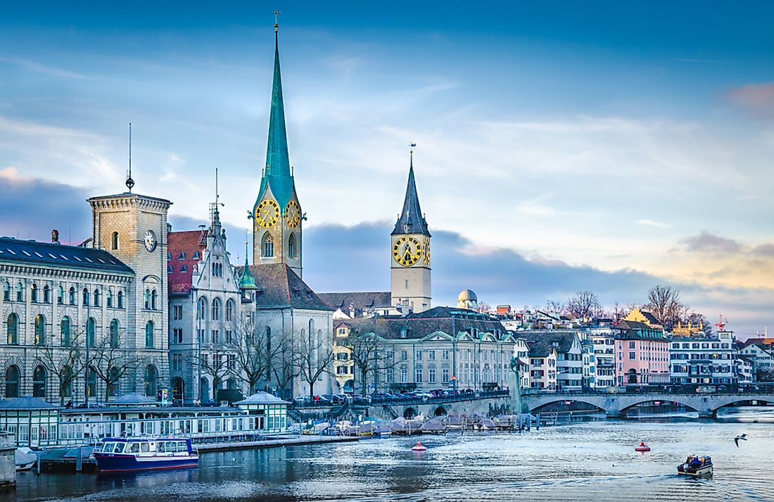 The city of Zurich, the most important economic center of Switzerland is also one of the world's major financial centers.