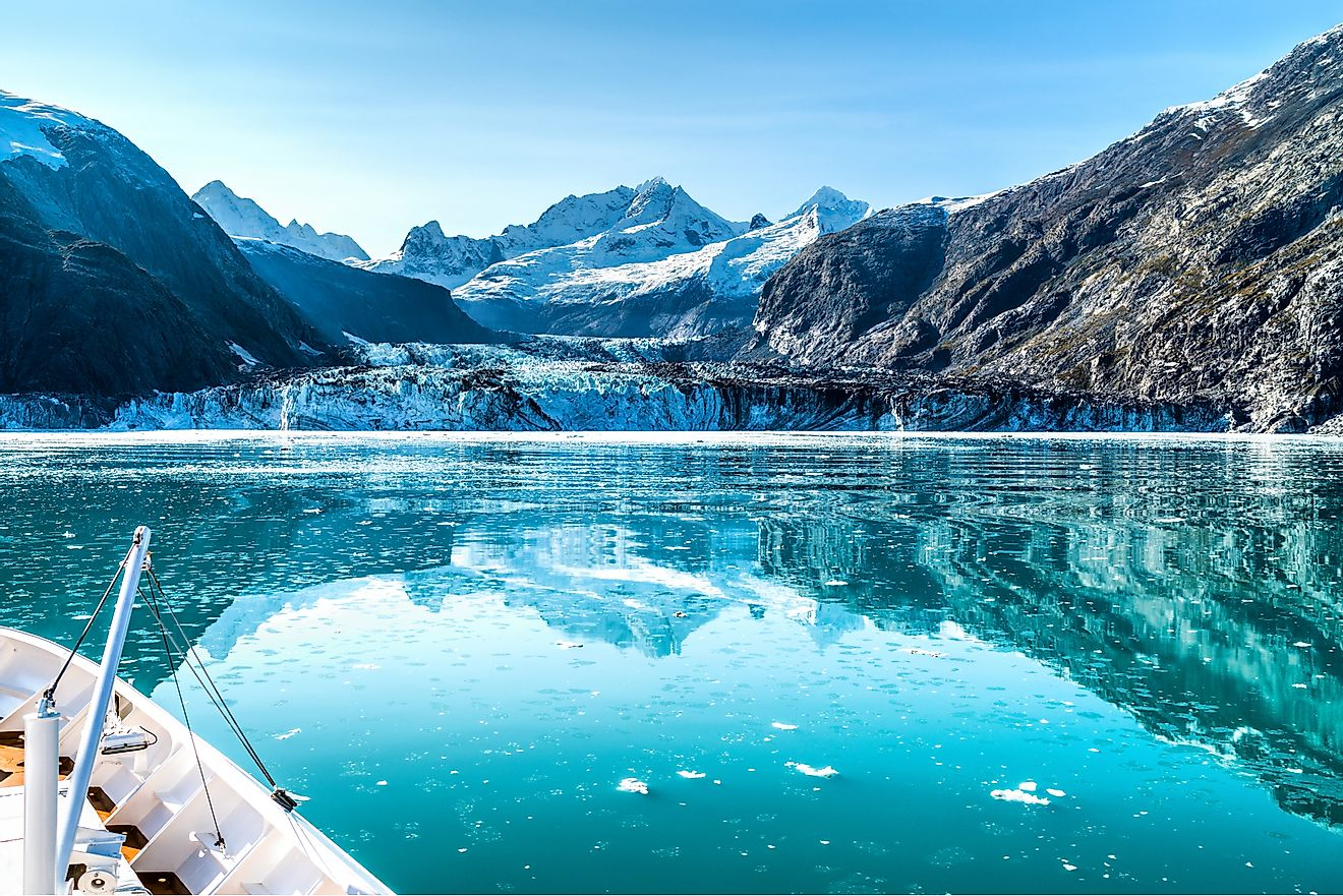 Glacier Bay National Park and Preserve in Alaska is one of the country's largest. The majority of the country's largest parks are located in Alaska.