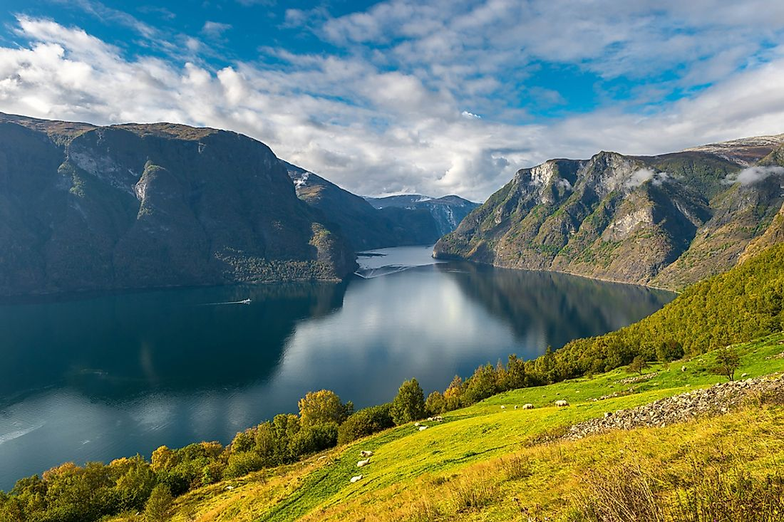 Sognefjord, the second largest fjord in the world.