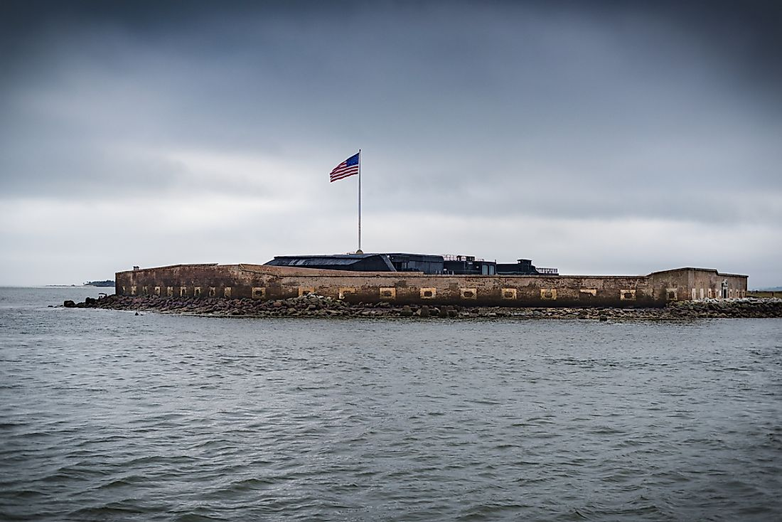 Fort Sumter a sea fort that is famous for two the battles of the American Civil War.