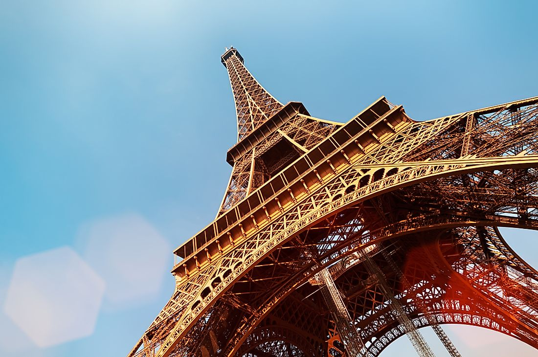 Cast iron and steel were the primary construction materials used to built the Eiffel Tower.